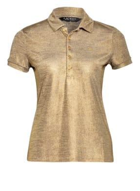 LAUREN RALPH LAUREN Jersey-Poloshirt aus Glitzergarn