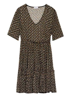 CLAUDIE PIERLOT Kleid RAUCHA mit Rüschenbesatz und Glitzergarn