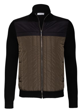 REISS Strickjacke LANGLY im Materialmix