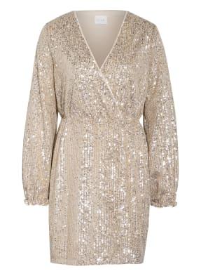 VILA Kleid mit Paillettenbesatz