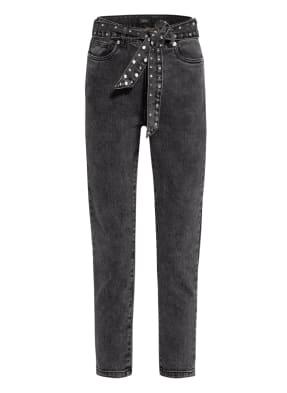 ONLY 7/8-Jeans mit Schmucksteinbesatz