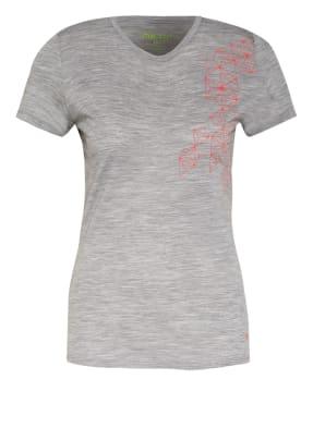 me°ru' T-Shirt STATHELLE mit Merinowolle