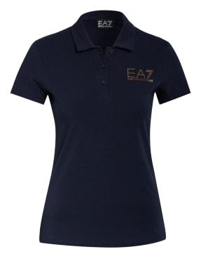EA7 EMPORIO ARMANI Jersey-Poloshirt mit Schmucksteinbesatz