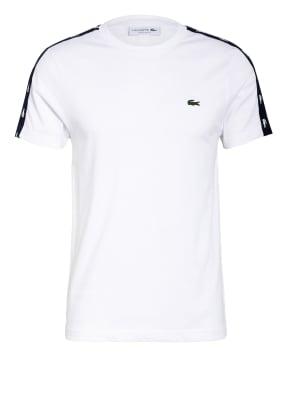LACOSTE T-Shirt mit Galonstreifen
