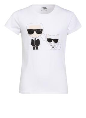 KARL LAGERFELD KIDS T-Shirt mit Schmucksteinbesatz
