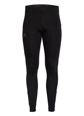 SALOMON Tights AGILE LONG mit Mesh-Einsatz