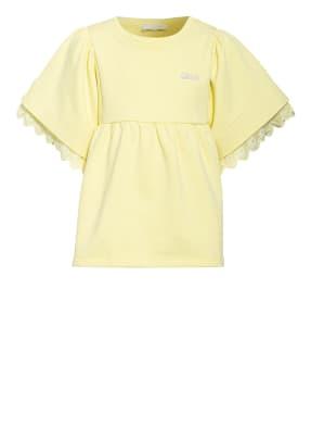 Chloé T-Shirt mit Spitzenbesatz