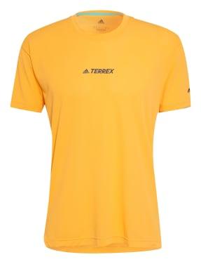 adidas Laufshirt TERREX PARLEY AGRAVIC TRAIL mit Mesh-Einsatz