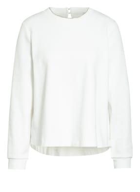 RIANI Sweatshirt im Materialmix mit Schmucksteinbesatz