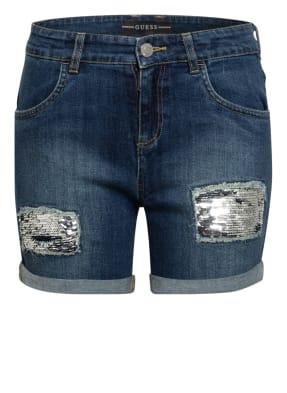 GUESS Jeans-Shorts mit Paillettenbesatz