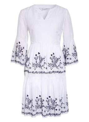 FrogBox Kleid mit 3/4-Arm und Stickereien