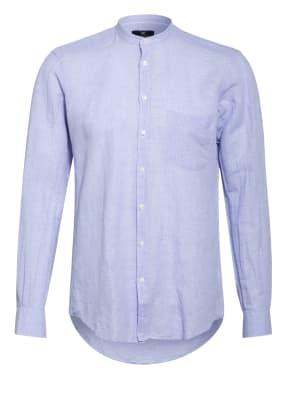 STROKESMAN'S Hemd Regular Fit mit Stehkragen und Leinen