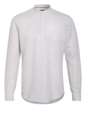 STROKESMAN'S Hemd Slim Fit mit Leinen und Stehkragen