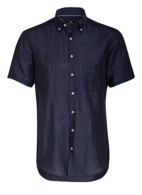 STROKESMAN'S Kurzarm-Hemd Regular Fit mit Leinen