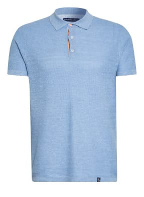 COLOURS & SONS Piqué-Poloshirt mit Leinen