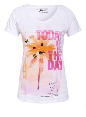 Grace T-Shirt mit Perlenbesatz