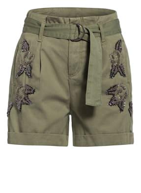LIU JO Shorts mit Paillettenbesatz