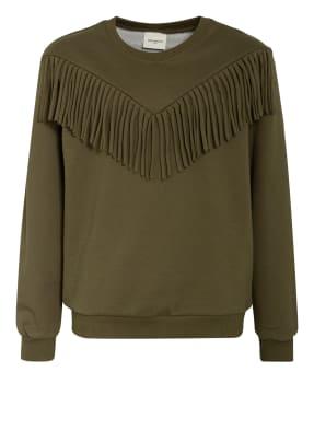 PETIT BY SOFIE SCHNOOR Sweatshirt mit Fransenbesatz