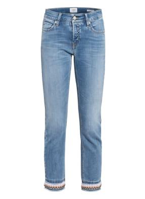 CAMBIO 7/8-Jeans LIU mit Perlenbesatz