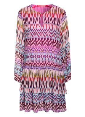 yippie hippie Kleid mit Volantbesatz