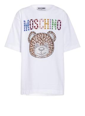 MOSCHINO T-Shirt mit Schmucksteinbesatz