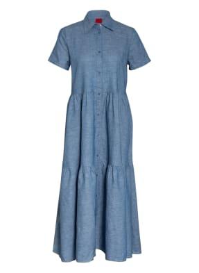 HUGO Hemdblusenkleid ENNISH mit Leinen