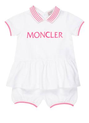 MONCLER enfant Set: Piqué-Kleid mit Schößchen und Piqué-Hose