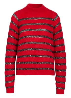 SAINT LAURENT Pullover mit Paillettenbesatz