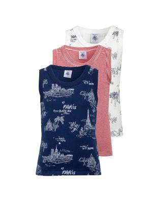 PETIT BATEAU 3er-Pack Unterhemden