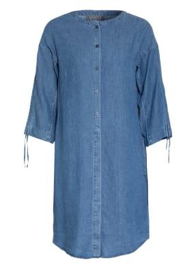 LANIUS Hemdblusenkleid mit Leinen in Jeansoptik