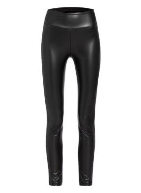 KARO KAUER Leggings SHINY in Lederoptik