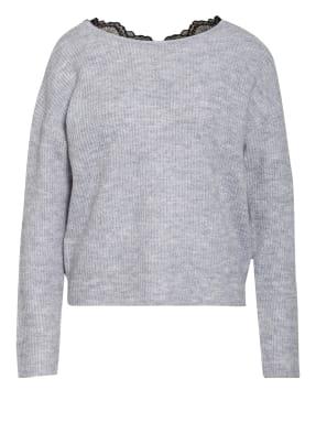 VILA Pullover mit Spitzenbesatz