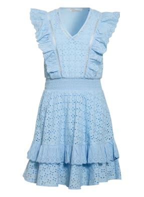 GUESS Kleid aus Lochspitze mit Volantbesatz