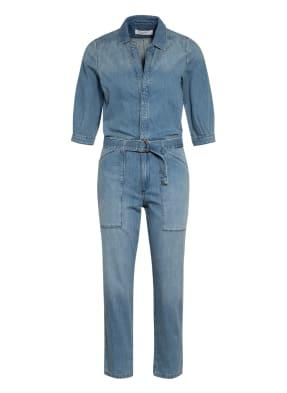 ba&sh Jeans-Jumpsuit mit 3/4-Arm
