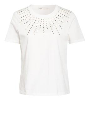 maje T-Shirt TIZIANO mit Schmucksteinbesatz