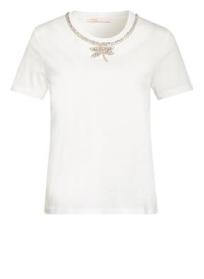 maje T-Shirt TOPAL mit Schmucksteinbesatz