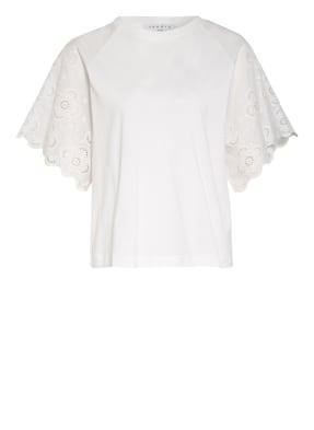 sandro T-Shirt mit Lochspitze