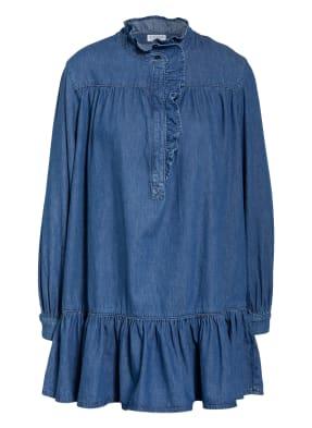 CLAUDIE PIERLOT Jeanskleid RAINEBIS mit Volant- und Rüschenbesatz