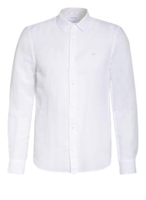 Calvin Klein Hemd Slim Fit mit Leinen