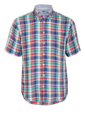 FYNCH-HATTON Kurzarm-Hemd Casual Fit aus Leinen