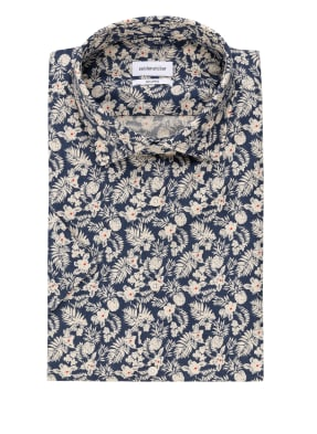 seidensticker Kurzarm-Hemd Shaped Fit mit Leinen