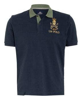 LA MARTINA Piqué-Poloshirt mit Patches und Stickereien