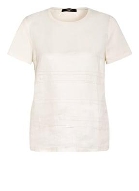 WEEKEND MaxMara T-Shirt GESSY im Materialmix mit Leinen