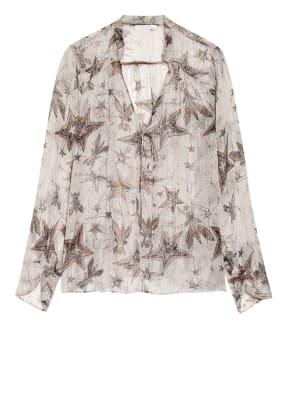 PATRIZIA PEPE Blusenshirt aus Seide mit Glitzergarn
