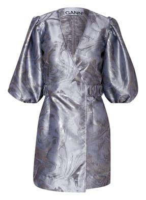 GANNI Wickelkleid aus Brokat