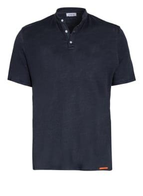 DISTRETTO 12 Henley-Shirt MARSEILLE aus Leinen