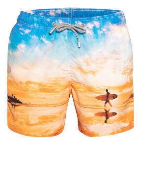MC2 SAINT BARTH Badeshorts GUSTAVIA PLACED PRINT
