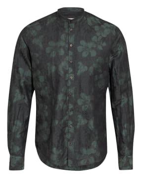 Q1 Manufaktur Hemd Slim Fit mit Leinen und Stehkragen