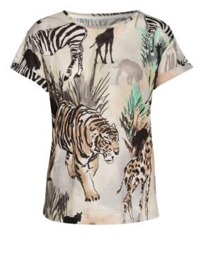 ZAÍDA T-Shirt aus Leinen mit Schmucksteinbesatz