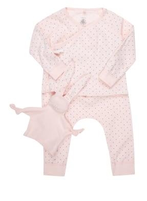 PETIT BATEAU Set: Jacke, Hose und Schmusetuch